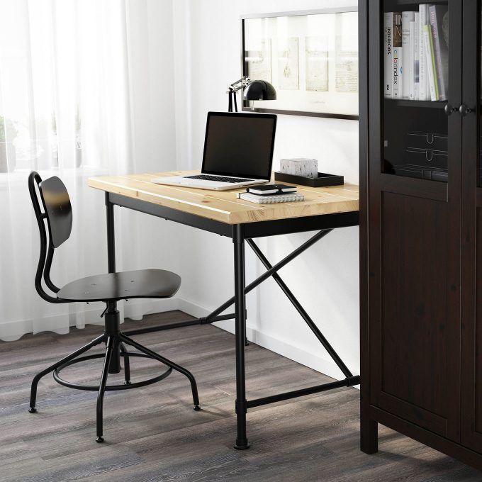 kullaberg industrieller schreibtisch von ikea desklove. Black Bedroom Furniture Sets. Home Design Ideas